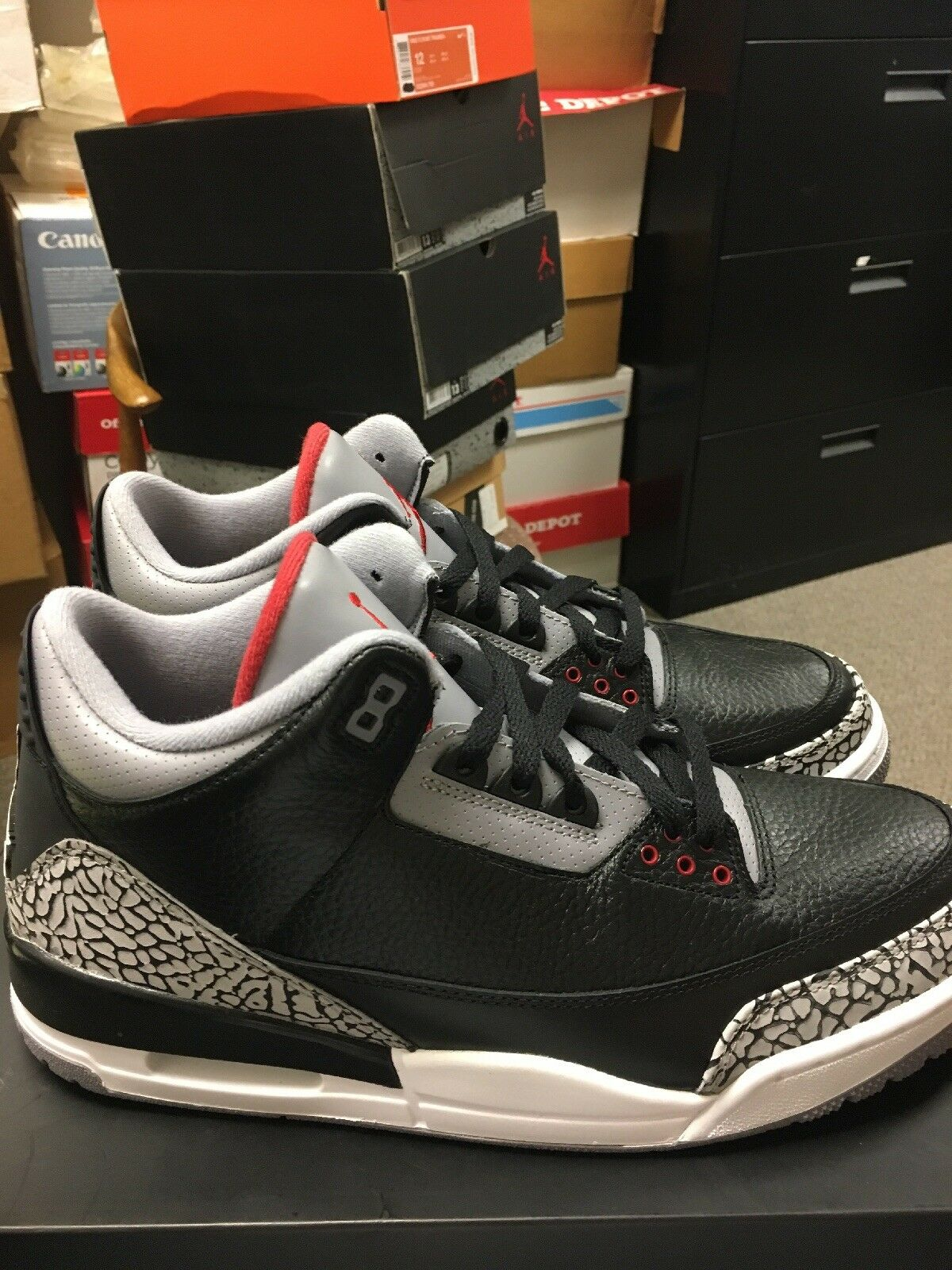 Nike Air Jordan 3 DS 12 Cement Black Red Kaws