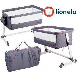 Baby-Crib-Bedside-Lionelo-Cot-Crib-Baby-Sleeping-Sleep-Crib-High-Quali-Dark-Grey