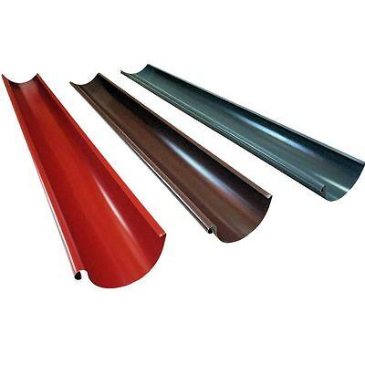 2m Dachrinne Regenrinne Ablaufrinne 7tlg./280 6tlg/333 Farbe Farbig Beschichtet Heimwerker