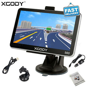 "XGODY 7/"" 8GB GPS SAT NAV Navigation System Car Speedcam Free Lifetime US Maps"