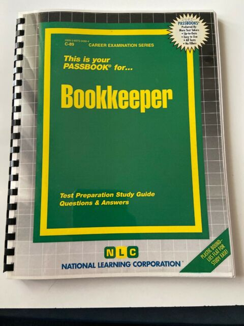 BOOKKEEPER CAREER EXAMINATION SERIES Test Prep Study Guide With Answers