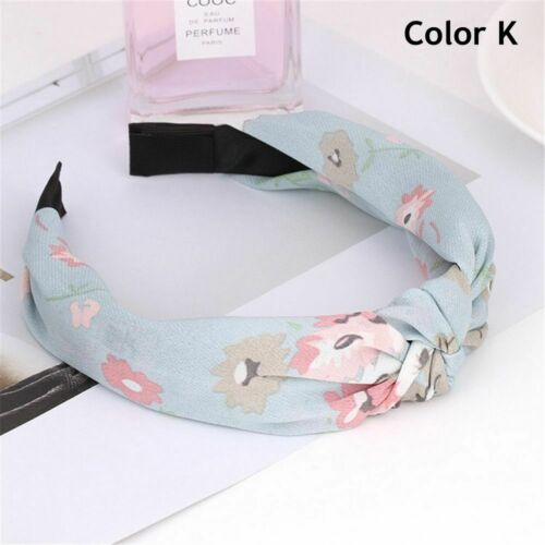Makeup Knot Hair Hoop Retro Turban Cross Twist Headband Women Floral Headband
