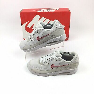 Nike Air Max 90 Ultra SE Leather Mens Shoes Vast Grey AH8443-003 New With Tags