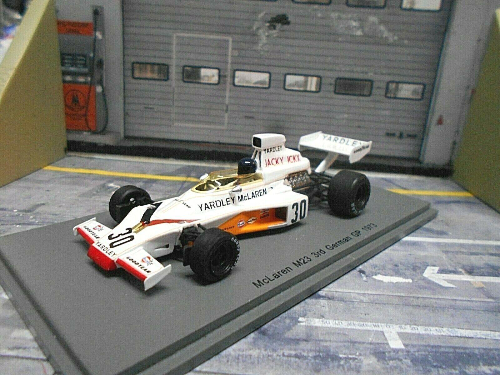 F1 mclaren ford cosworth m23 Ickx German gp 1973 2nd Yardley Spark 1 43