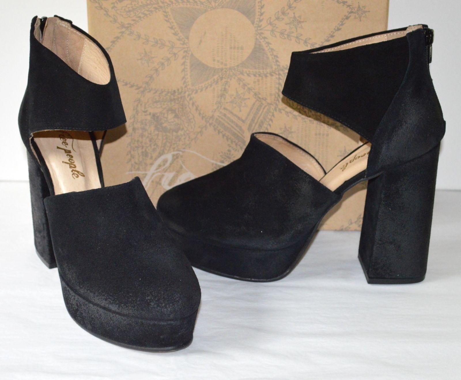 il più economico New  178 Free People People People Platform Heel Luxor nero Burnished Leather Suede 38 8  il più alla moda