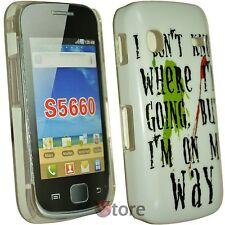 Cover Custodia Per Samsung Galaxy GIO S5660 My Way + Pellicola Display