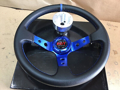 BLUE Steering Wheel with Adapter for RZR 570 800 900 1000