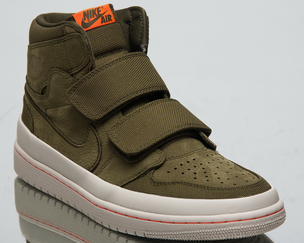 Air Jordan 1 Retro High Double Strap Men Olive Canvas Casual Sneakers AQ7924-305