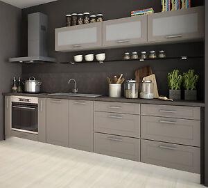 Küche Beige küchenblock küchenzeile komplett küche 290cm jersey beige matt neu