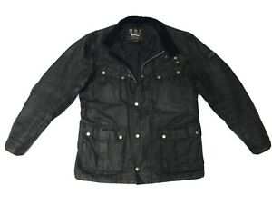 Barbour-DUKE-Men-039-s-Waxed-Wax-Cotton-Jacket-Coat-Black-Fitted-L-Large-M-40-199