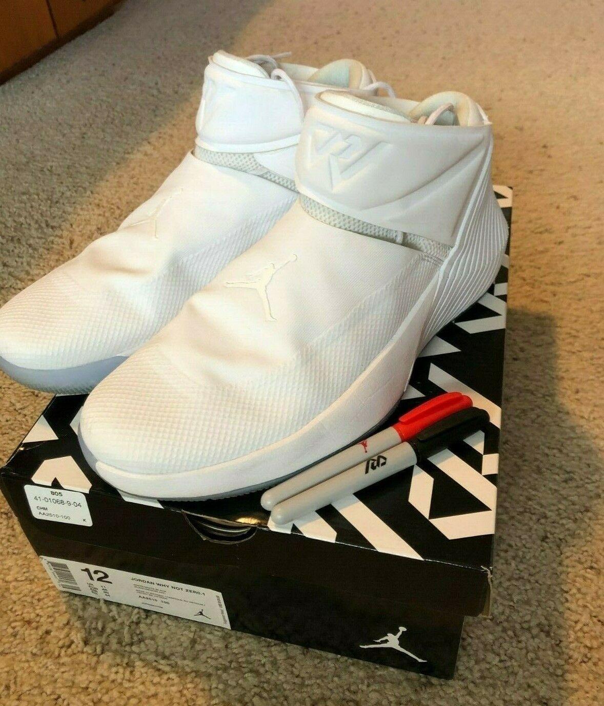 Jordan WHY no ZER0.1  te  blancoo Westbrook Do Zapatos de baloncesto