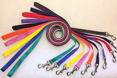 K9-Jazzie Strong Nylon Dog Puppy Lead Leash Clip to Collar Harness 1.2mtr 20mm