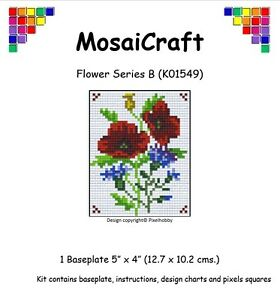MosaiCraft-Pixel-Craft-Mosaic-Art-Kit-039-Flower-Series-B-039-Pixelhobby