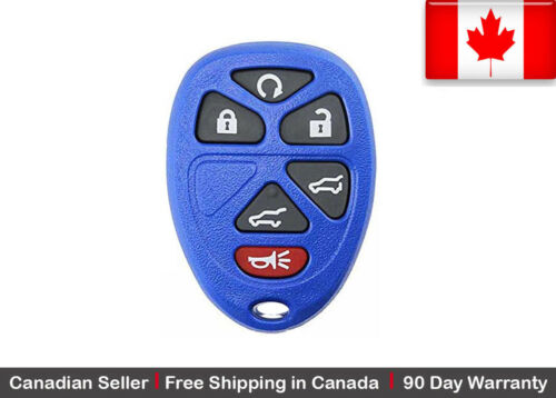 1x Blue New Replacement Entry Remote Control Key Fob For GMC Chevy Cadillac