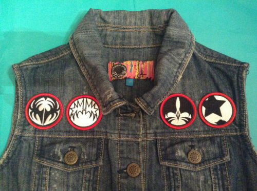 Jacket Waistcoat Four Love Destroyer Vest Girls Gun Denim Kiss Cutoff Icon Faces T8xwgYgqZ