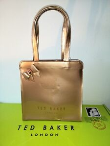 32a28f7249 Image is loading Ted-baker-Cleocon-Small-bow-icon-bag-Bronze