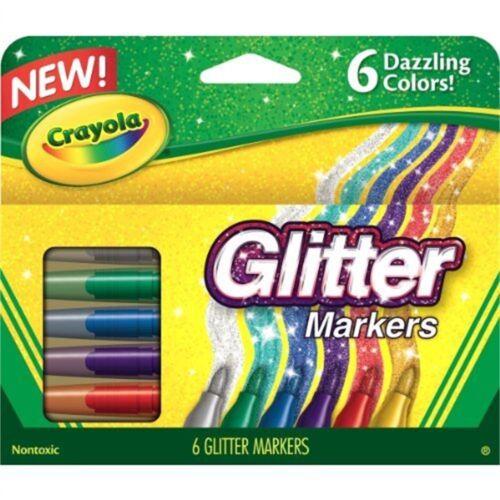 Markersdazzling 6pkg Crayola Glitter Markers-dazzling Colors 6//pkg