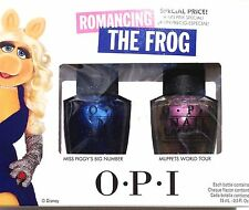 OPI NEW NAIL POLISH SET DISNEY MUPPETS ROMANCING THE FROG FULL SIZE 2X15 ML