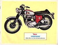 Vintage 1967 Bsa 650 Lightning Motorcycle Sales Brochure/flyer(reprint) $6.50