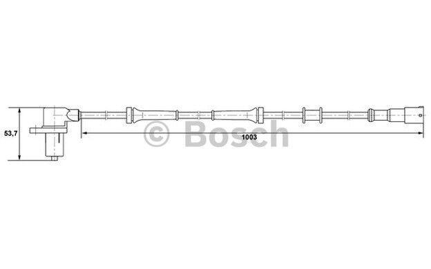 BOSCH Sensor ABS ALFA ROMEO FIAT TEMPRA COUPE LANCIA DEDRA DELTA 0 265 006 212