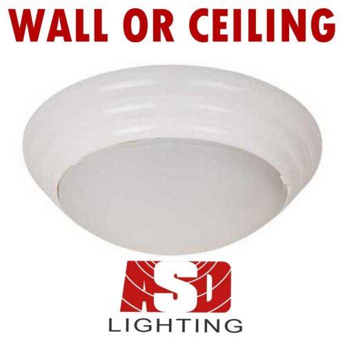 ASD IP44 Modern White Round Flush Bathroom Ceiling Bulkhead Light Lights Fitting