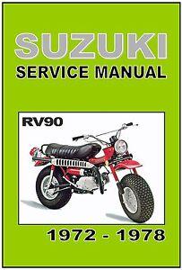 suzuki workshop manual rv90 rover 1972 1973 1974 1975 1976 1977 rh ebay com Factory Service Repair Manual Alfa Remeo Service Repair Manuals