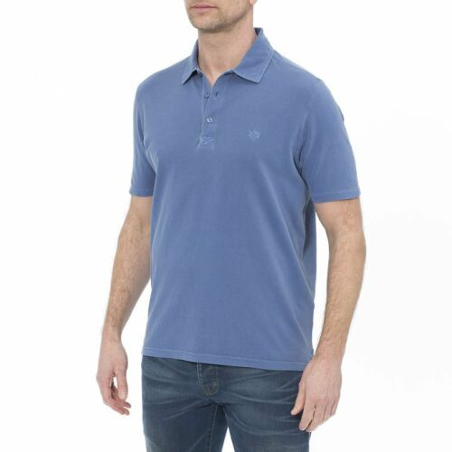 Alan Paine Weymouth coton lavé effet Polo Shirt-Invisible réparé