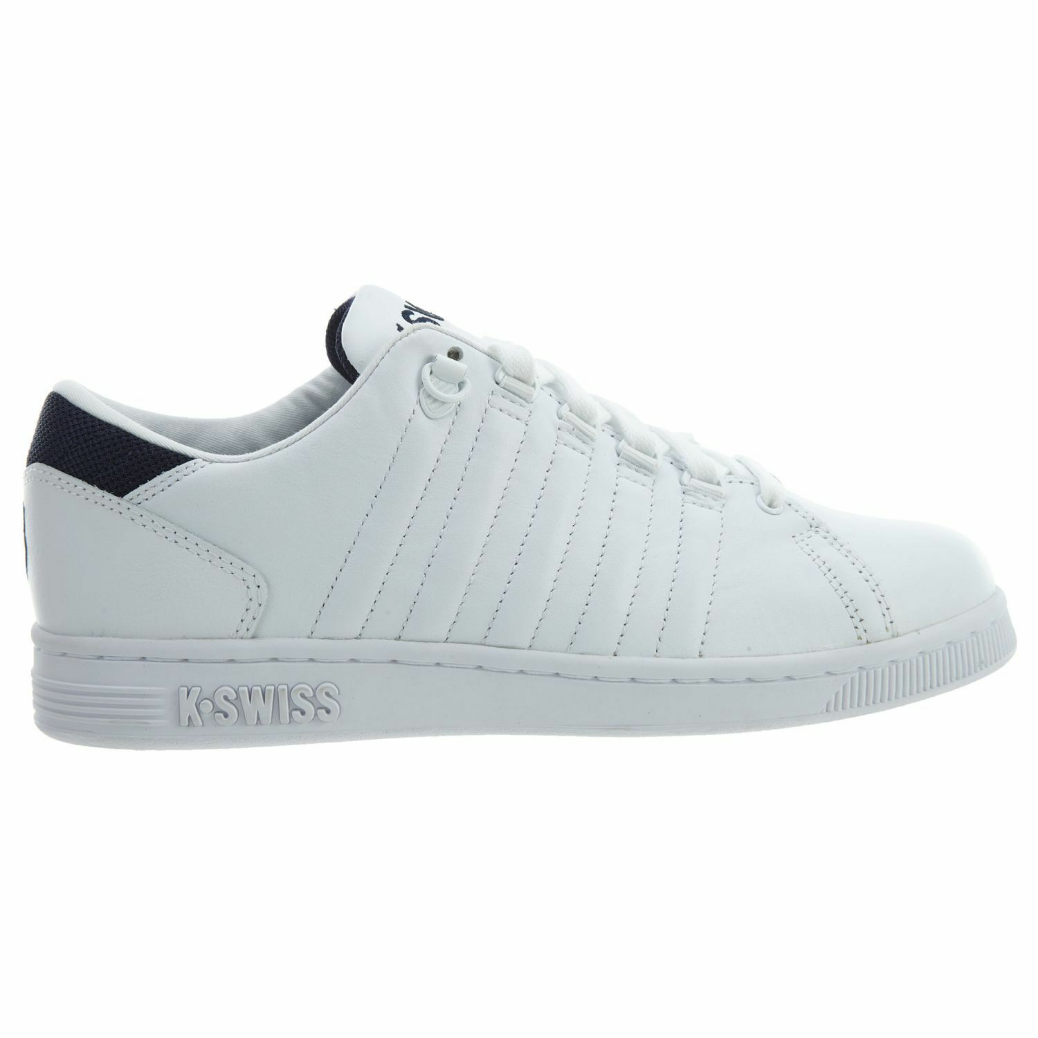 K-Swiss Lozan III TT Mens 05398-109 White Navy Leather Athletic shoes Size 9.5