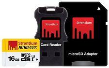 STRONTIUM NITRO CLASS10 16GB MICRO SD UHS-1  433X  3IN1 16 GB