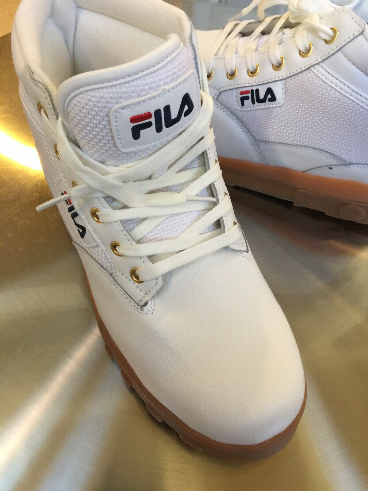 Fila Hightop Leather Boots. Men's Size  11