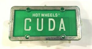 Hot-Wheels-Cuda-Green-License-Plate-Series-Empty-Case-No-Car-Inside-As-Is