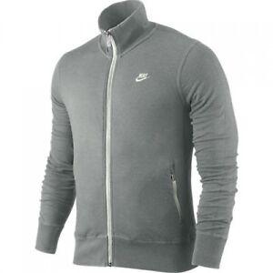 97d8944c82a5 Nike Men  039 s Swoosh Grey Zip-Up Football Soccer N98 Track Jacket ...
