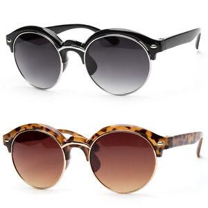 eaa89394f52b Women Retro Vintage Style Black Metal Half Frame Cat Eye Sunglasses ...
