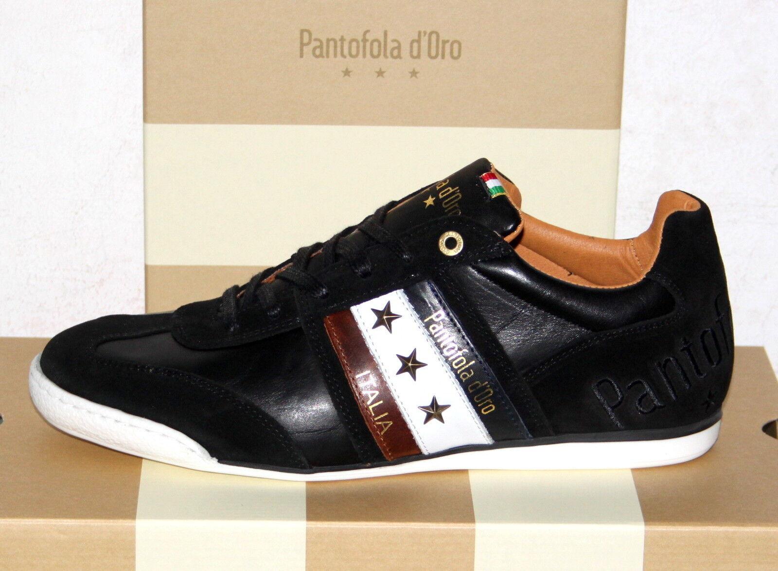 PANTOFOLA D´ORO Leder-Sneaker - IMOLA Uomo Low Black - Neu&OVP!
