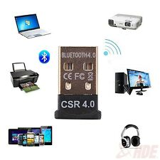 Mini USB 2.0 Wireless Bluetooth CSR 4.0 Adapter Dongle for LAPTOP PC WIN XP 7 8