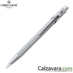 Caran D'ache 849 Sfera A Scatto Classic Ballpoint Pen - Grigia Grey Marchandises De Haute Qualité