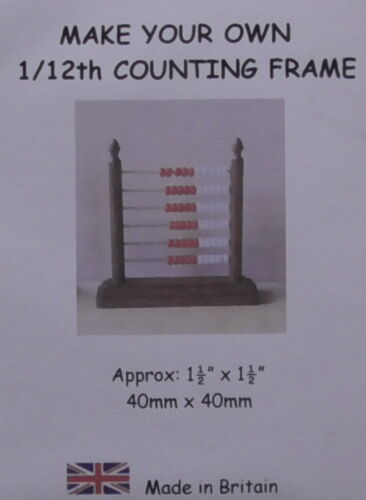 Dolls House 12th scale Mahogany Counting Frame kit