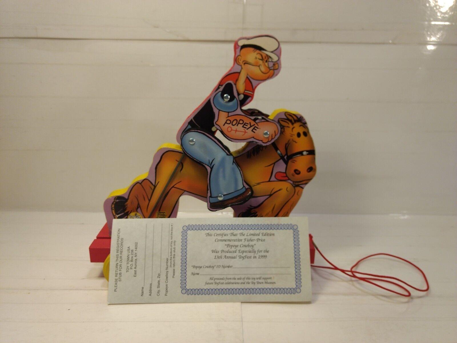 990705 Fisher 1999 Fest Toy Pull Cowboy Popeye