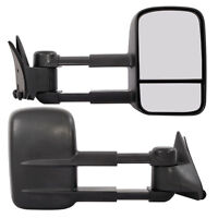 Led Signal Manual Extend Towing Side Mirrors 88-98 Chevy Gmc C/k 1500 Tahoe