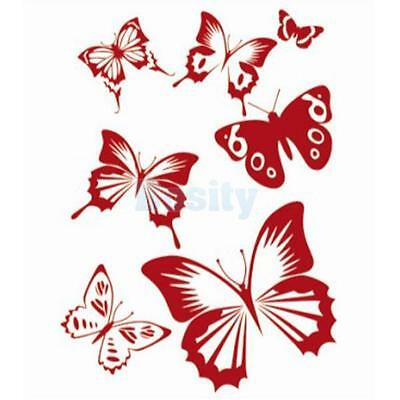 Transparent Reusable Wall Art Painting Butterfly Stencil Pattern for Craft DIY