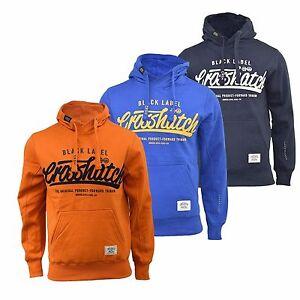 Mens-Hoodie-Crosshatch-Hanglide-Print-Hooded-Pull-Over-Sweatshirt-Top-S-XXL