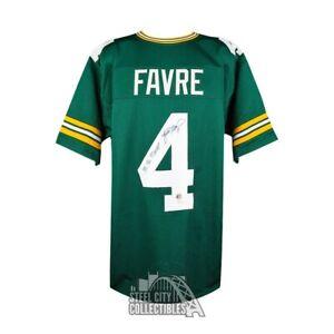 58444e6a97d Image is loading Brett-Favre-MVP-Autographed-Packers-Custom-Green-Football-