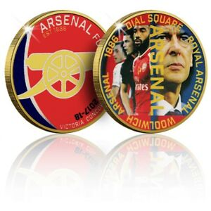 Arsenal-FC-Memorabilia-Gold-Coin-Medal-The-2017-18-Season-Commemorative