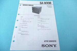 Service Manual-anleitung Für Sony Sa-wx90 original!! ZuverläSsige Leistung