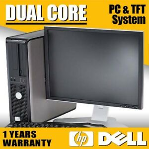 FULL-DELL-HP-DUAL-CORE-DESKTOP-TOWER-PC-amp-TFT-COMPUTER-SYSTEM-WINDOWS-10-amp-500GB