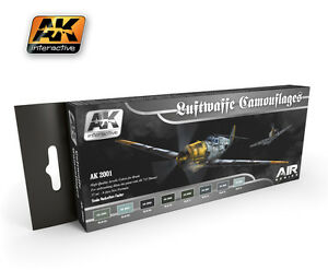 Ak02001 Ak Interactive - Luftwaffe Camouflage Kit De Couleurs