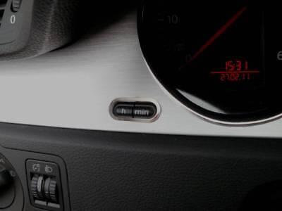 D VW Tiguan Chrom Rahmen für Schalter Uhr// Nullsteller Edelstahl poliert