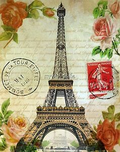 image is loading vintage shabby eiffel tower love letter roses quilting