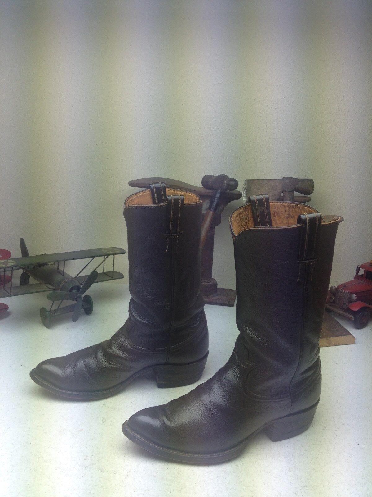 marca VINTAGE TONY LAMA DISTRESSED Marrone LEATHER ENGINEER WESTERN TRAIL stivali stivali stivali Dimensione 9 E  vanno a ruba
