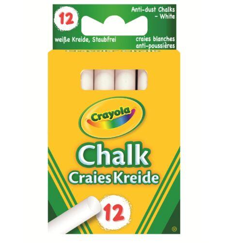 Crayola Branded Chalk Anti Dust Sticks Pavement Teacher Black Board Packets Kids